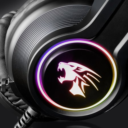 V9000 Computer Gaming Headphone With Microphone Internet Cafe Wired Headset - image 8 de 10