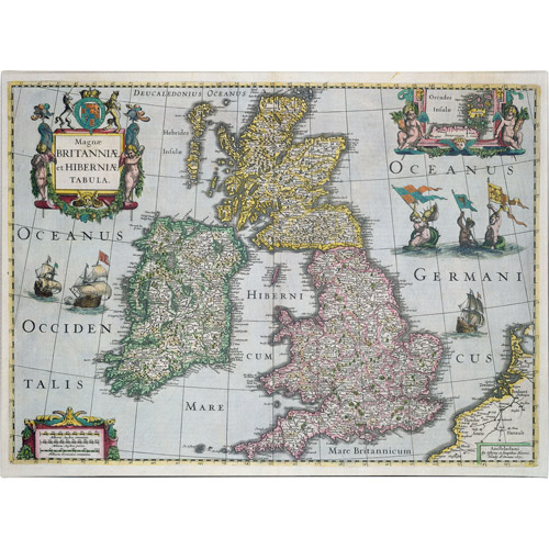 Trademark Art 'Map of Britain, 1631' Canvas Art