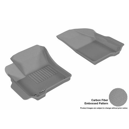 3D MAXpider 2012-2017 Dodge Journey Front Row All Weather Floor Liners in Gray with Carbon Fiber - Gray Carbon