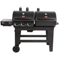 Char-Griller Dual Function Gas & Charcoal Grill, Black, E5072