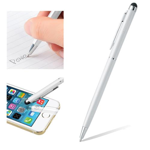 Insten White 2in1 Capacitive Touch Stylus with Ball Point Pen For Samsung...