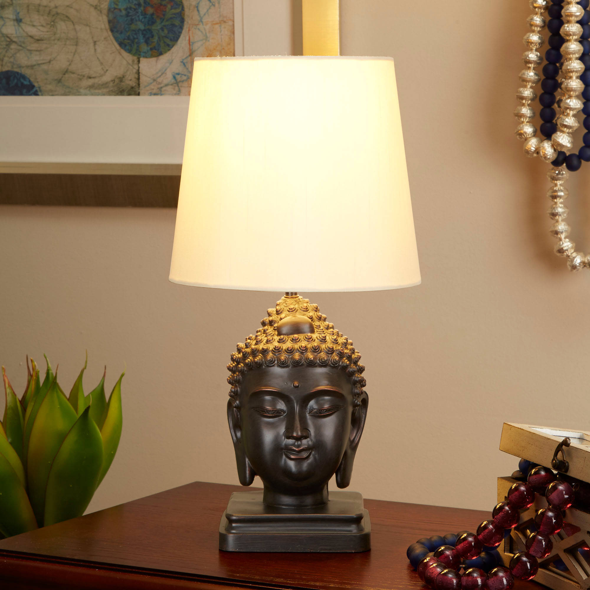 Better Homes And Gardens Buddha Table Lamp, Oil Rubbed Bronze   Walmart.com
