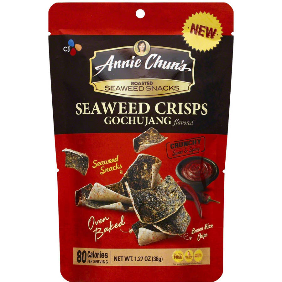 Annie Chun's Go Chu Jng Seaweed Crisps, 1.27 oz, (Pack of 10) by
