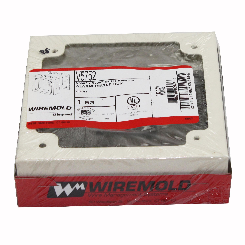 Wiremold Legrand V5752 Alarm Device Box V500 V700 Series Raceway ...