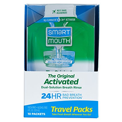 6 Pack - SmartMouth Mouthwash Packets Clean Mint 10 Each