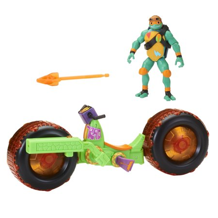 Rise of the Teenage Mutant Ninja Turtle Shell Hog with Exclusive Michelangelo - Michelangelo Nunchucks Toy