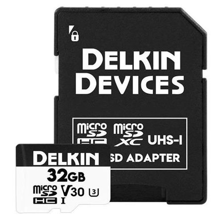 Delkin Devices Advantage 660X 32GB UHS-I Class 10 U3 V30 microSDHC Memory Card Delkin Sd Pro Card