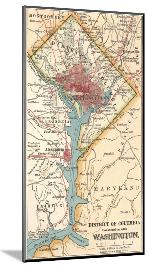 photo regarding Printable Maps of Washington Dc identify Map of Washington D.C. (C. 1900), Maps Picket Preset Print Wall Artwork As a result of Encyclopaedia Britannica