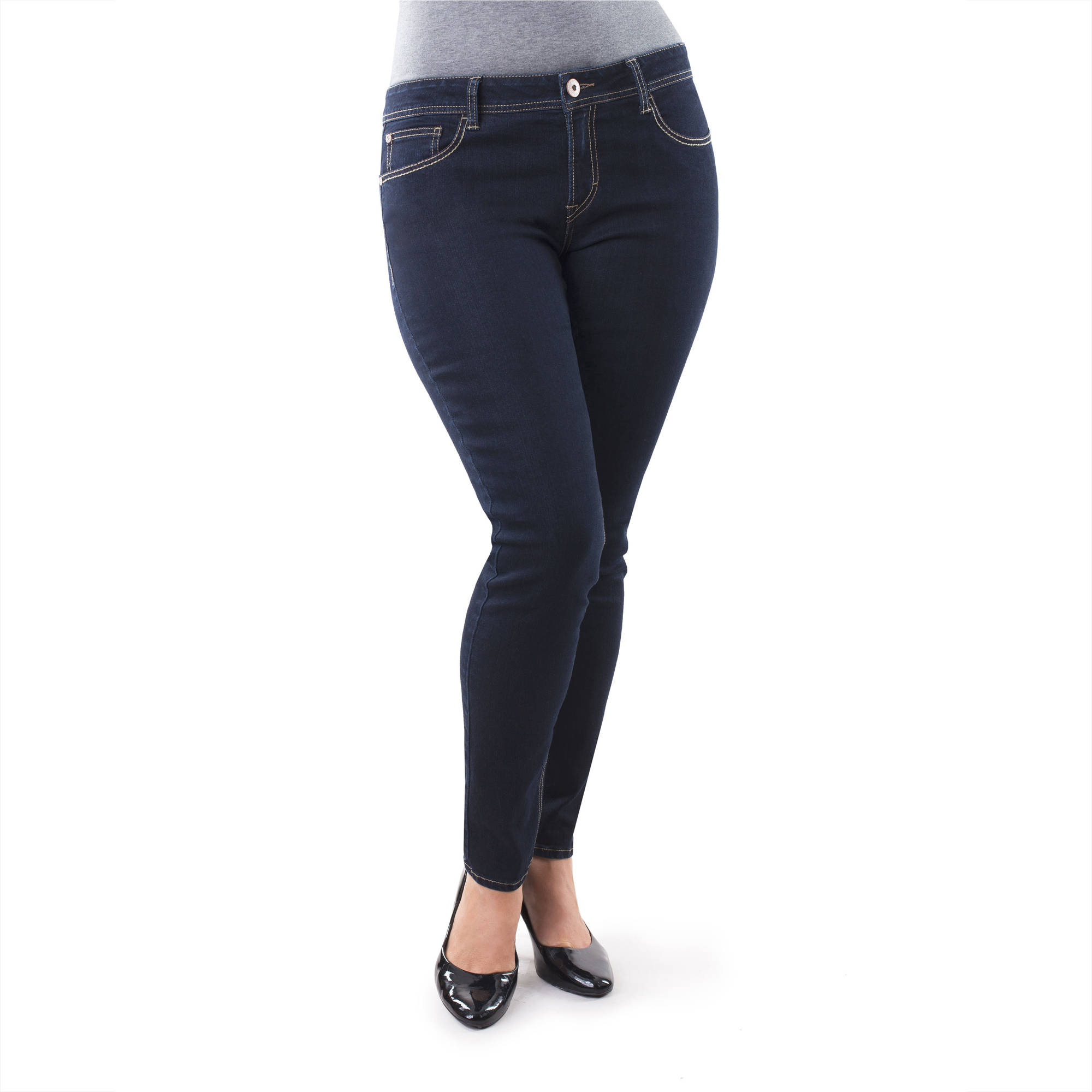 Jordache Women's Plus-Size Skinny Jeans, Available in Regular and Petite Lengths
