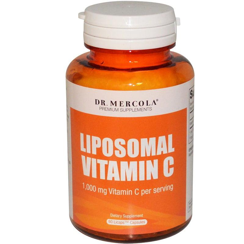 Dr. Mercola, Liposomal Vitamin C, 1,000 mg, 60 Licaps Capsules(pack of 6)