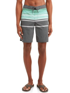 d35097a211 Product Image Men's Painterly Stripe 9-Inch Eboard Swim Short With Dolphin  Hem, up to size