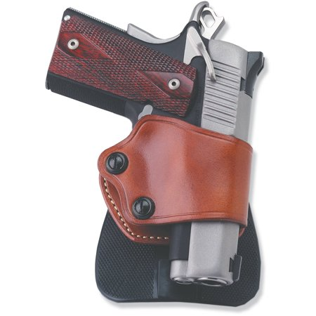 Hand 1911 Leather - Galco Yaqui Paddle Holster, Fits 1911, Right Hand, Tan Leather