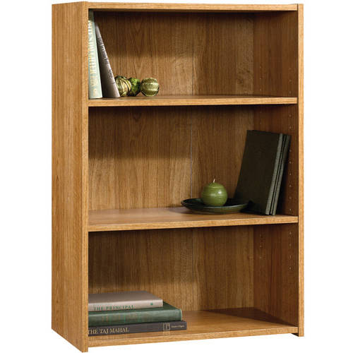 "Sauder Beginnings 35"" 3-Shelf Standard Bookcase, HIghland Oak"