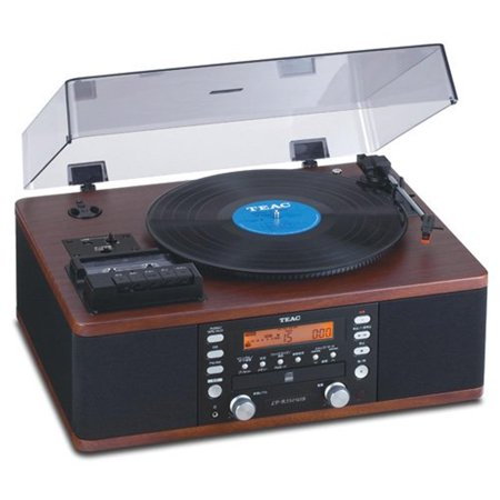 TEAC LP-R550USB Turntable CD & Cassette Audio Dubbing Recorder System Walnut