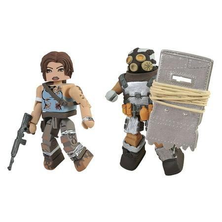 Toys Tomb Raider Battle Damaged Lara Croft and Armoured Scavenger Action Figure, 2-Pack, A Diamond Select release By Diamond Select (Lara Croft Action Figure)