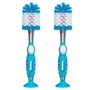 Munchkin Soap Dispensing Bottle Brush, 2 Pack - Blue