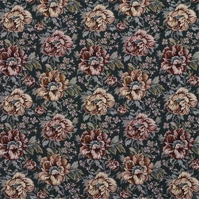 Designer Fabrics F655 54 inch Wide Green And Red, Floral Tapestry Upholstery Fabric