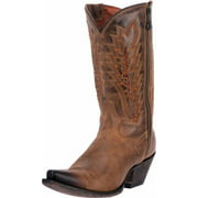 "Dan Post Western Boots Womens 11"" Trish Leather Zipper Tan DP3631"