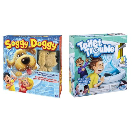 Soggy Doggy Board Game And Toilet Trouble Board Game Bundle