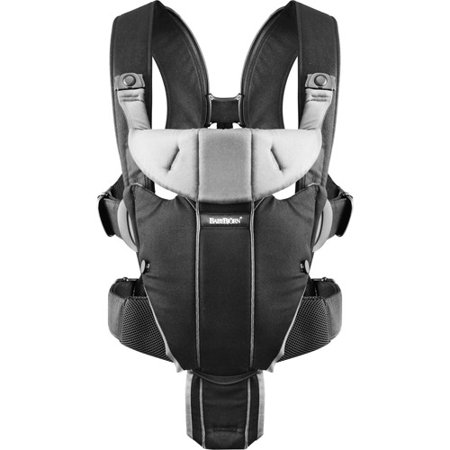 BabyBjorn Baby Carrier Miracle - Black/Silver Cotton Mix