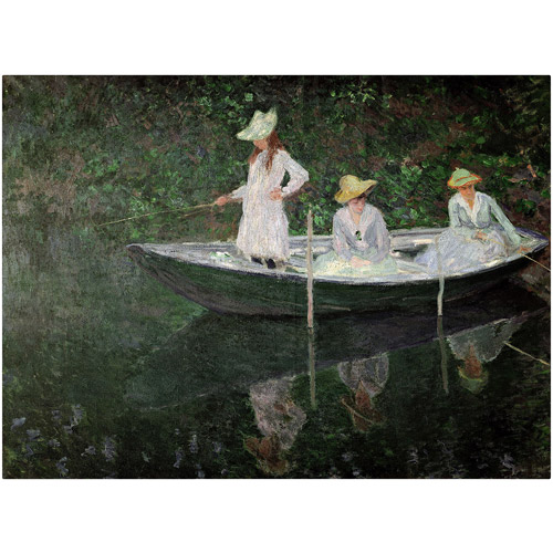 "Trademark Fine Art ""The Boat at Giverny"" Canvas Art by Claude Monet"