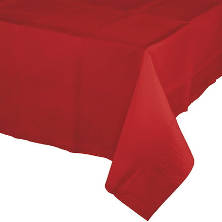 Classic Red Paper Tablecloth, each - Red Paper Tablecloths