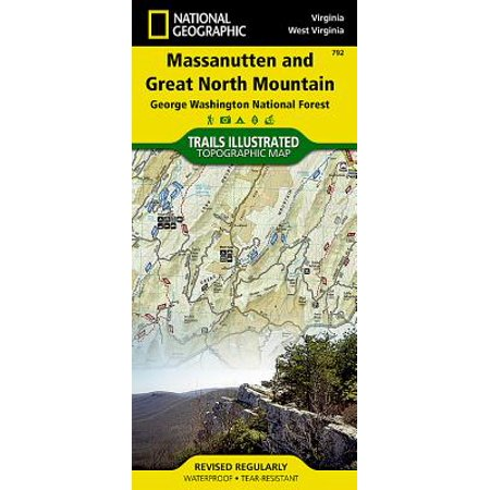 National Geographic Maps: Trails Illustrated: Massanutten and Great North Mountains [george Washington National Forest] - Folded (North Bend Washington Map)
