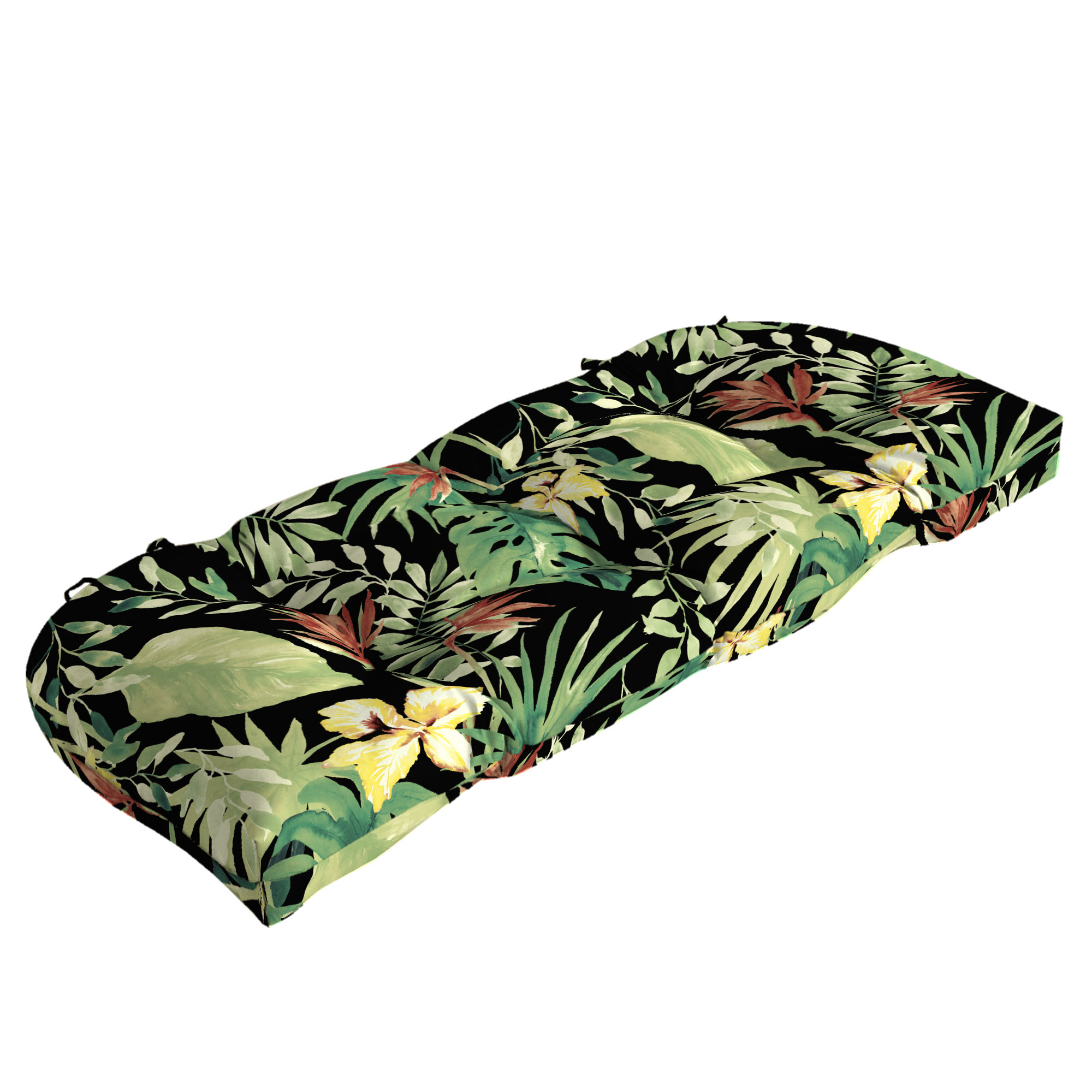 Better Homes and Gardens Aruba Palm Outdoor Wicker Settee Cushion