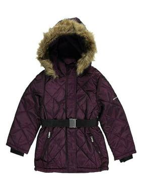 "Limited Too Big Girls' ""Diamond Shine"" Insulated Jacket (Sizes 7 - 16) - burgundy, 14 - 16"