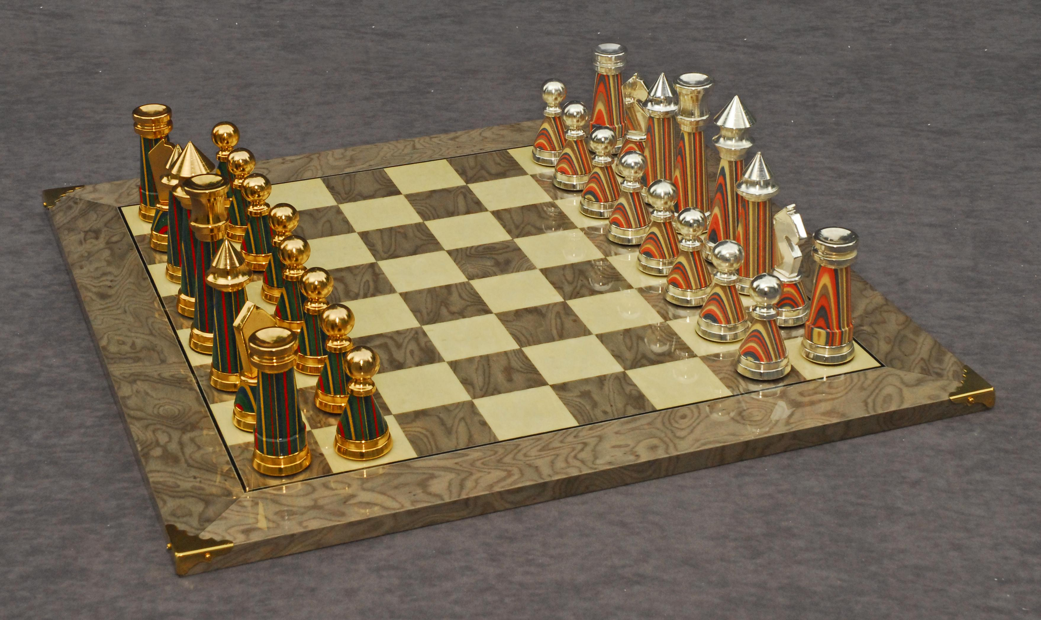 The Sophisticated Chessmen And Superior Chess Board by Cambor Games