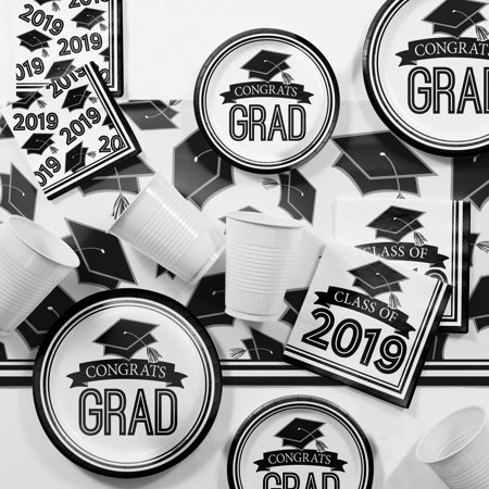Black and White 2019 Graduation Party Supplies - Black And White Graduation