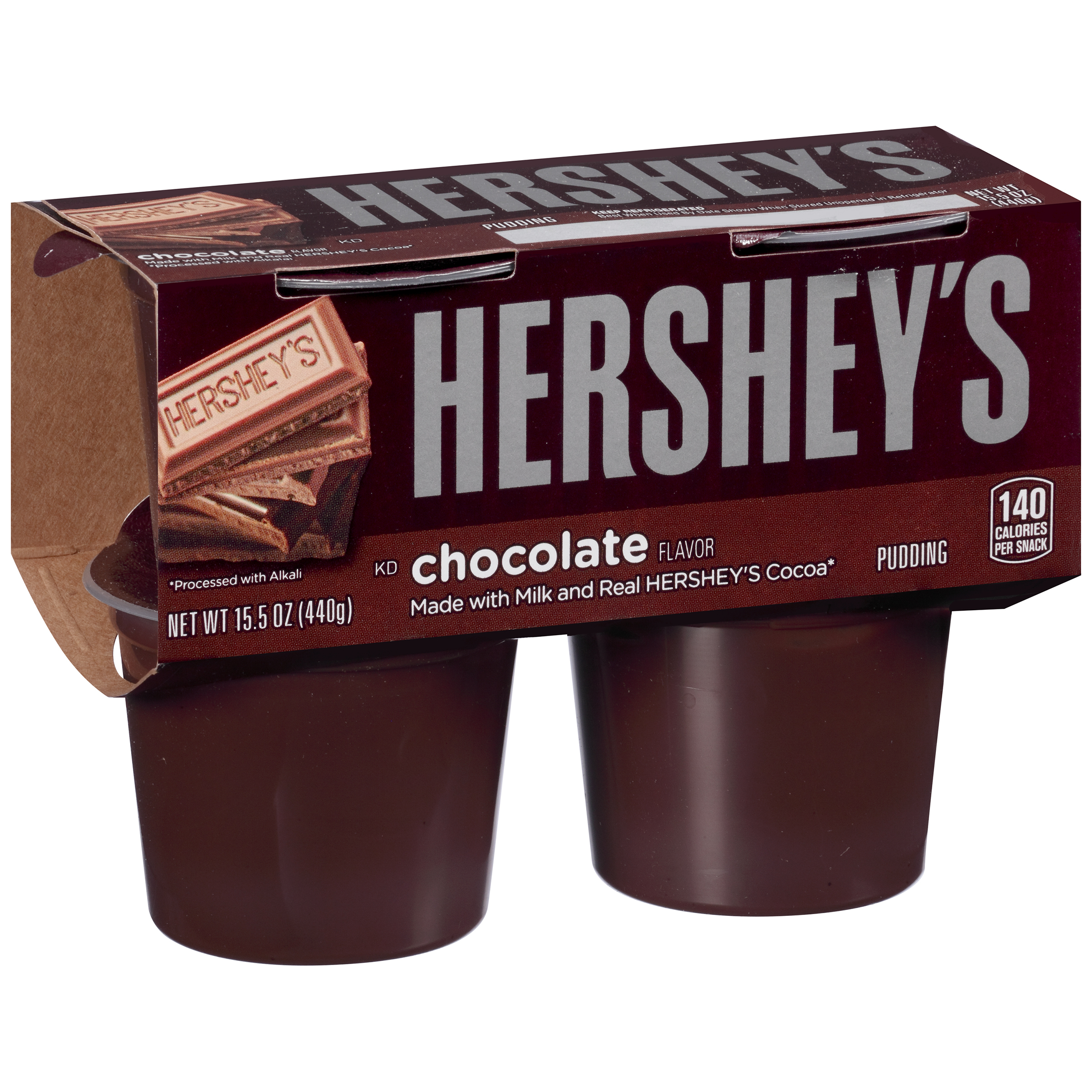 Hershey's Chocolate Pudding Cups, 4 count Sleeve