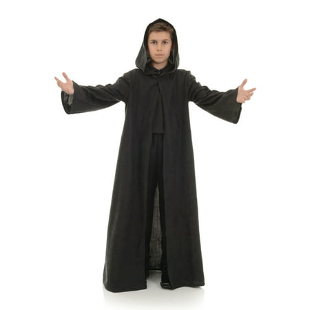 Black Cloak Child Wizard Vampire Halloween Costume Accessory](Make Black Teeth Halloween)