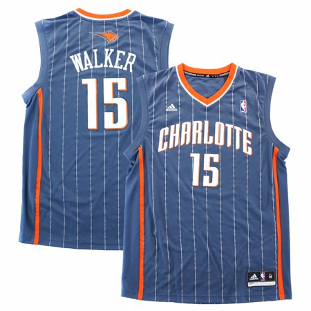 - Kemba Walker Charlotte Bobcats NBA Adidas Men's Grey Official Replica Jersey