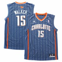 7f5ef8b862f Product Image Kemba Walker Charlotte Bobcats NBA Adidas Men s Grey Official  Replica Jersey