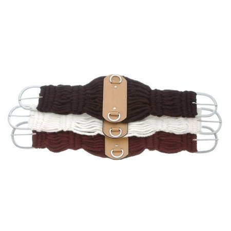 Horse Saddle Cinch King Series Double Woven Roper Girth White 9784363