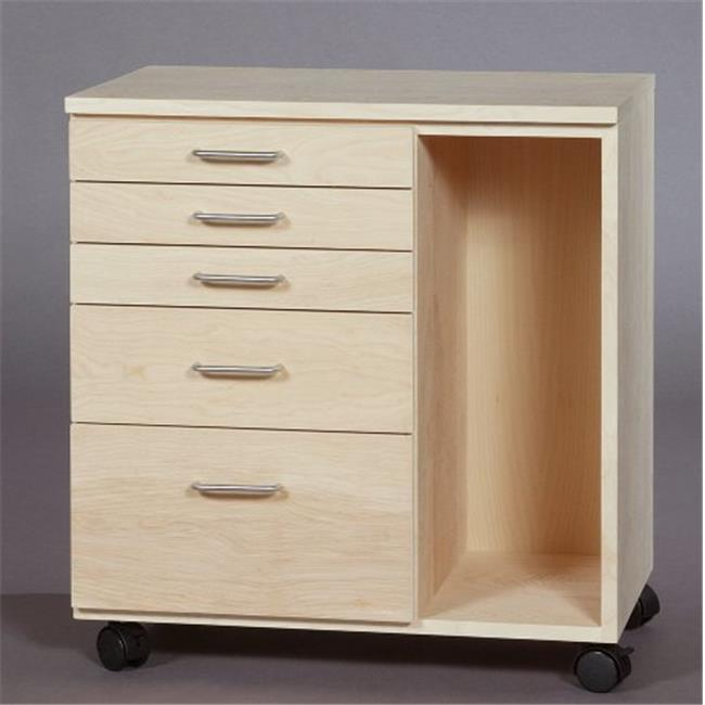 SMI TB550B Birch Taboret With Side Storage, 5-Drawer, Vanguard