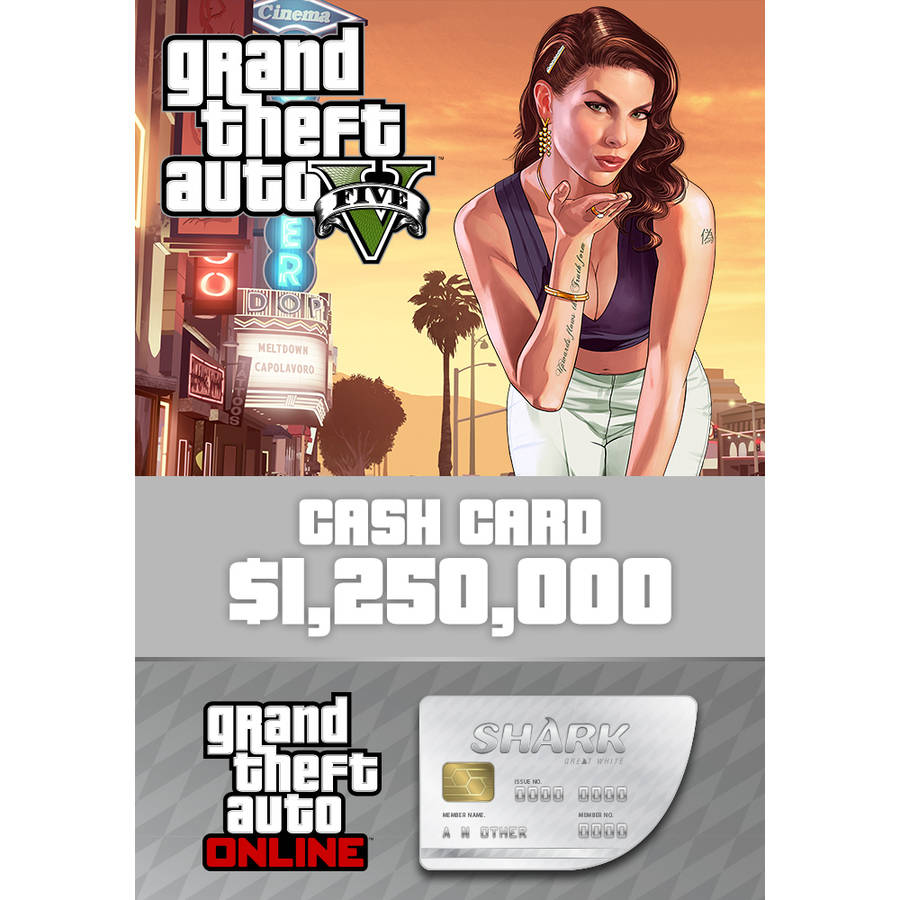 Grand Theft Auto V + Great White Shark Card Bundle (PC) (Email Delivery)