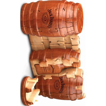 Jack Daniels Wooden Whiskey Barrel Puzzle Designer Jewelry by Sweet