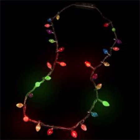 Christmas Necklace Craft - Christmas Lights Necklace