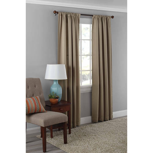 Mainstays Diamond Room Darkening Curtain Panel in Multiple Sizes and Colors by Ellery Homestyles