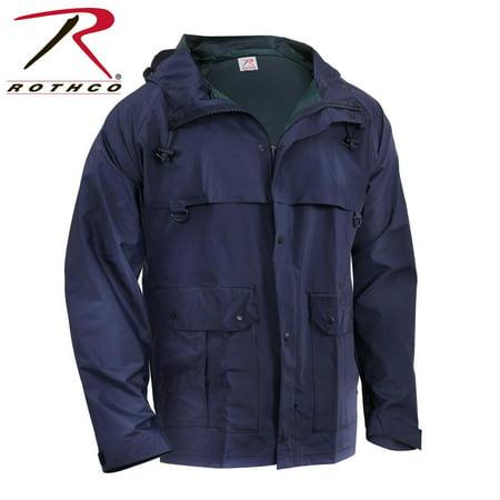 - Rothco Microlite Rain Jacket - Navy Blue