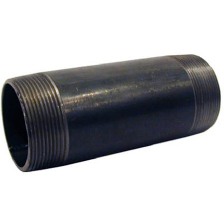 NB-0220 Black Nipple - 0.25 x 2 in.