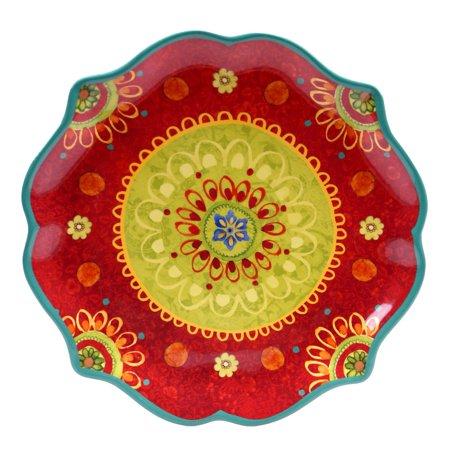 (Certified International  - Tunisian Sunset 13.25-inch Scallop Shaped Round Platter)