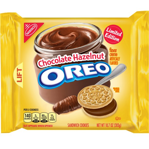 Nabisco Oreo Chocolate Hazelnut Sandwich Cookies Limited Edition, 10.7 Oz.