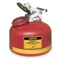 JUSTRITE 14762 Disposal Can,2 Gal.,Red,Polyethylene