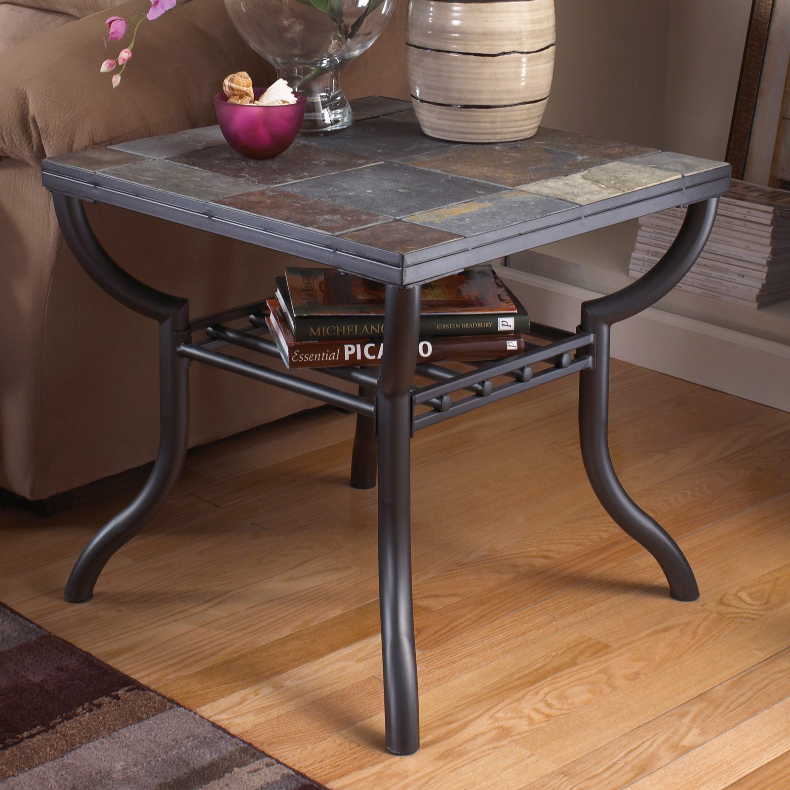 Signature Design By Ashley Antigo Gunmetal Square End Table
