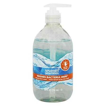 Seventh Generation Purely Clean Hand Wash Soap Fresh Lemon & Tea Tree 12 oz