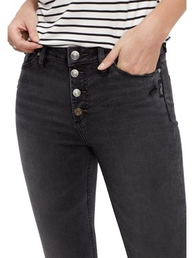 Silver Jeans Co. High Rise Black Button Fly Jegging