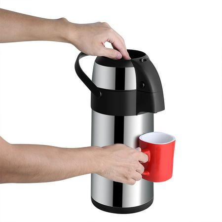 Sonew Distributeur de café Airpot sous vide en acier inoxydable de 3 litres avec pompe, Airpot en acier inoxydable, Airpot sous vide - image 6 de 8